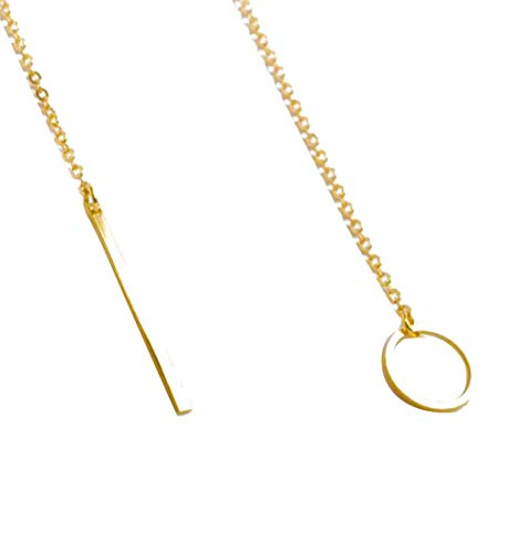 Clearance Sale!DEESEE(TM)Hot Womens Chic Y Shaped Circle Lariat Style Chain Jewelry Necklace