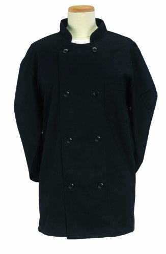 Series Jacket Textile (Ritz Pro Series Extra Large Chef's Jacket, Black)