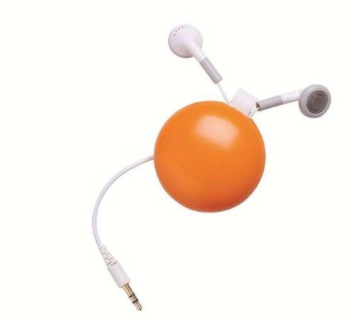 FunkyFonic Retractable Earbuds Orange