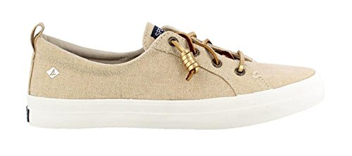 Sperry Topp-pages Dame Crest Puls Vasket Lin Gull Metallisk Oxford