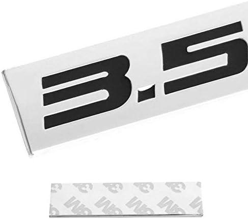 1x 3D Chrome Finish Metal 3.5L Emblem Alloy Badge Sticker Chrome Red