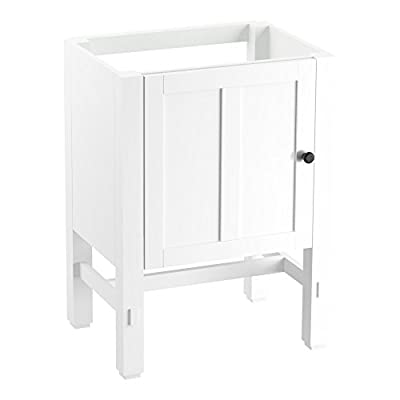"""KOHLER K-2604-1WA Tresham vanity, 24"""", Linen White - Finishes resists moisture, scratches and stains Three-way adjustable slow-close door hinges with 100-degree opening capability for easy cabinet access Includes decorative cabinet hardware - bathroom-vanities, bathroom-fixtures-hardware, bathroom - 3102yHtbhNL. SS400  -"""
