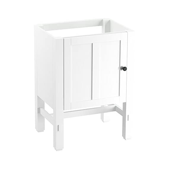"""KOHLER K-2604-1WA Tresham vanity, 24"""", Linen White - Finishes resists moisture, scratches and stains Three-way adjustable slow-close door hinges with 100-degree opening capability for easy cabinet access Includes decorative cabinet hardware - bathroom-vanities, bathroom-fixtures-hardware, bathroom - 3102yHtbhNL. SS570  -"""