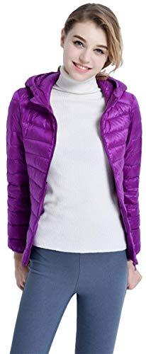 Qualità Monocromo Caldo Invernali Violett Donna Mantello Alta Cappuccio Di Ragazza Coat Corto Fashion Leggero Cerniera Piumino Lunga Chic Hx Cappotto Tasche Laterali Manica Con IxRA0nwIq