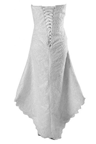 Sunvary Robe Courte Robe de Demoiselle dHonneur Robe de Cocktail Robe de Party Asym¨¦trique sans Bretelles A-Ligne S¨¦duisante en Dentelle