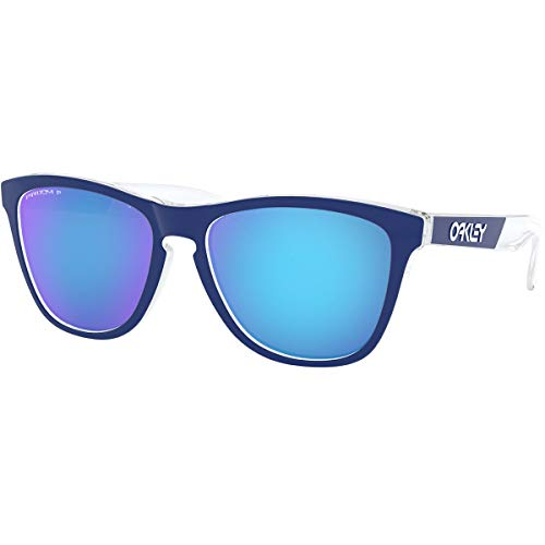 Oakley Men's Frogskins CF Sunglasses,OS,Polished Clear/Prizm Sapphire ()