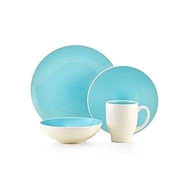 Thomson Pottery Ovi Aqua 16 Pc Dinnerware Set
