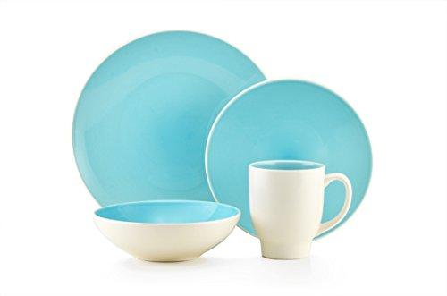 Thomson Pottery Ovi Aqua 16 Pc Dinnerware (Aqua Dinnerware Sets)