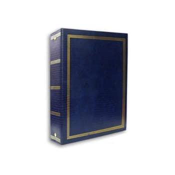 """Magnetic 3-Ring Photo Album with 100 Pages, 8.25"""" x 10.5"""", Navy Blue Color"""