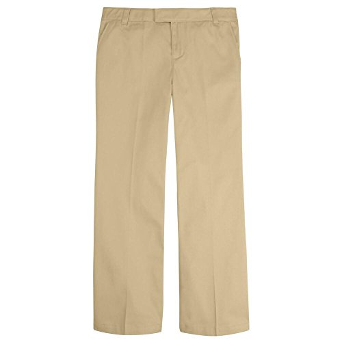 French Toast Girls Adjustable Waist Pant Girls Khaki 16-1/2 Plus