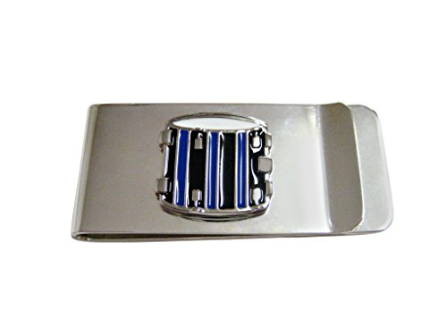 Blue and Black Toned Drum Musical Instrument Money (Music Money Clip)