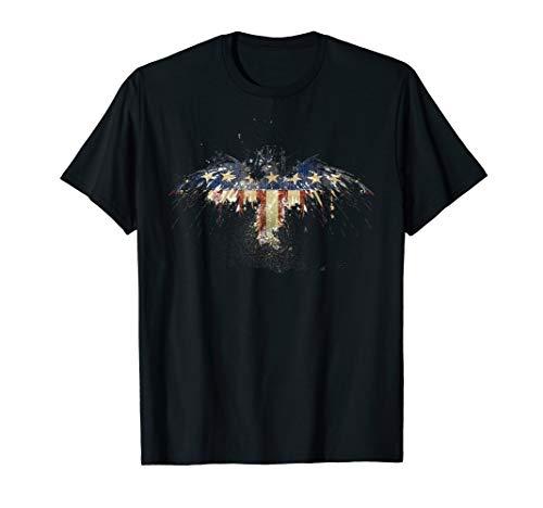4th Of July American Flag Freedom Eagle T-Shirt USA ()