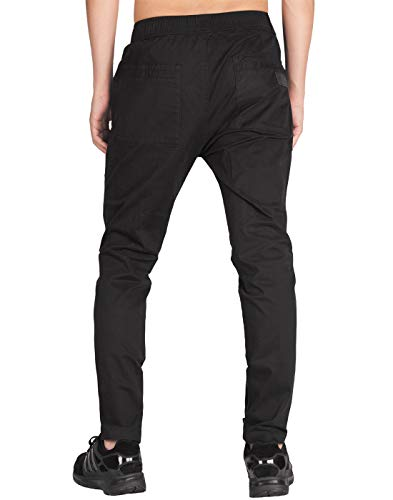 Italy Slim Noir Homme Casual Morn Pantalon Chino Fit Cargo YnYwgqrR