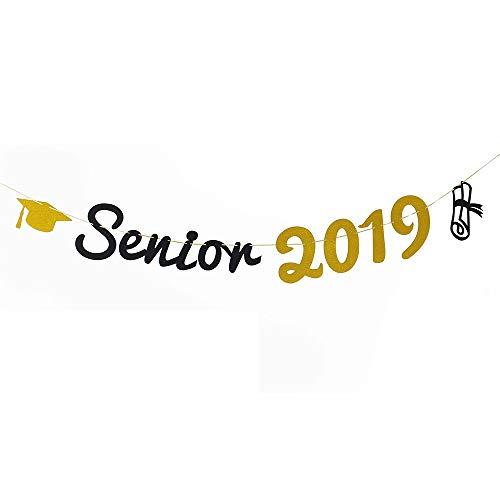TMYSP 2019 Congrats Signs Graduation Party Decorations Senior 2019 Banner Sign Congratulations Bunting Garland Graduation Party Decoration -