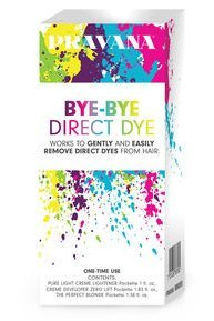 Pravana BYE-BYE DIRECT DYE Creme Lightener 1oz, Creme Developer Zero Lift 1.83oz, Perfect Blonde Packette 1.38oz