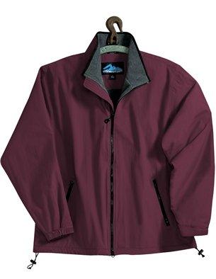 (Premium Quality Men's Toughlan Nylon Patriot Jacket - Dark Maroon/Charcoal/Black, XL)