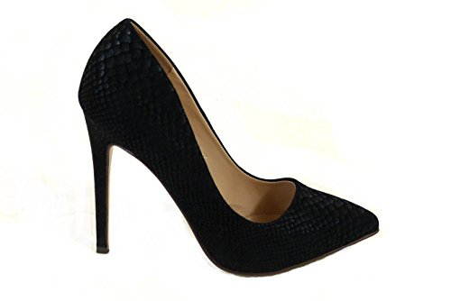 Womens Ladies Party High Heels Pointed Toe Court Evening Shoes Office Work Pumps Size Black (JC3225) hHoFzR