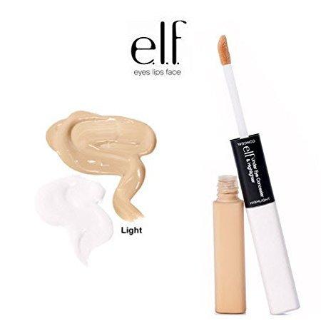 2 Pack e.l.f. Cosmetics Studio Under Eye Concealer & Highlighter 81502 Glow / Light