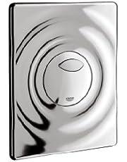 Grohe Wave 38963000 Wc-bedieningsplaat, voor 2 hoeveelheden en start- en stopbediening voor pneumatische afvoerventiel), chroom