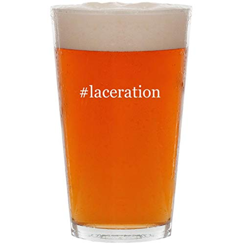 Lacer Probaby Boots - #laceration - 16oz Hashtag Pint Beer Glass