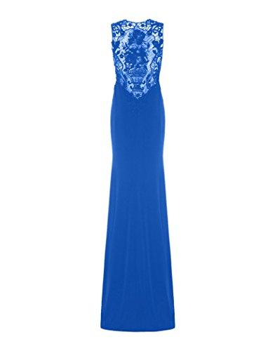 Damen Bronx Kleid Dynasty Schal Königsblau ohne Langes Schwarz Stil 1012835 6I1qqd
