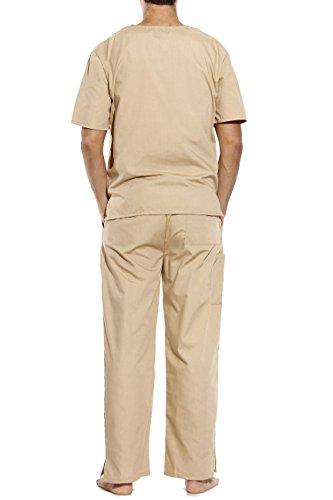 33000M-Khaki-XXL Tropi Unisex Scrub Sets / Medical Scrubs / Nursing Scrubs by Tropi (Image #2)