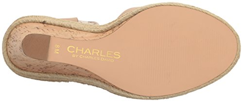 David Charles Charles Gold Brit Wedge Sandal Nude by Women's PrE5rq