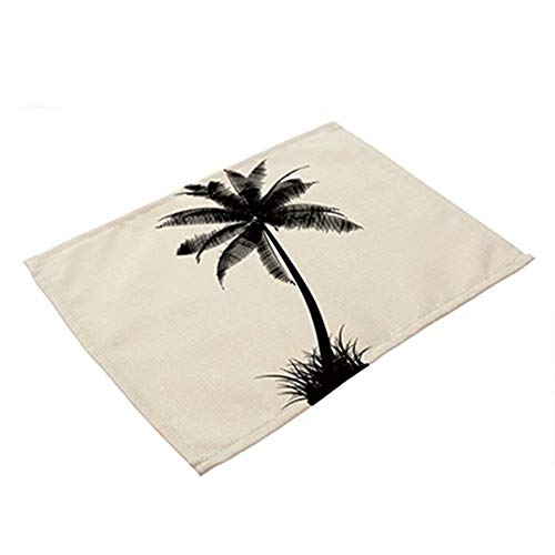 Palm Tree Cotton Linen Cloth Napkins Placemats for Dining Table Coffee Kitchen Place Mat Patterns Heat Resistant Placemat Machine Washable for Kitchen Coffee Wedding Party -