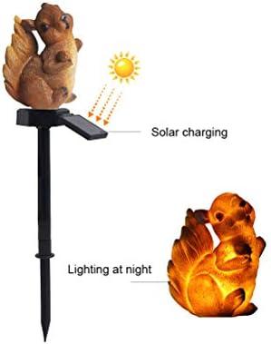 ACHNC LED Luz Solar Exterior Jardín, Ardilla Impermeable Adorno Solar para Jardin,Luces Solares Para Decoración de Jardín (Césped/Paisaje/Navidad),4 piezas: Amazon.es: Iluminación