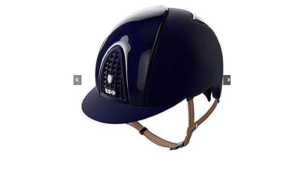 Maas Italia - Casco de equitación cromo Polish Velvet terciopelo brillante frontal y trasera: Amazon.es: Deportes y aire libre
