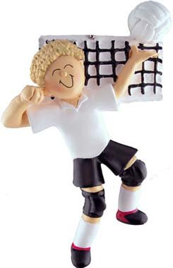 Male Blonde Volleyball Player Christmas Ornament (Best Male Volleyball Player)