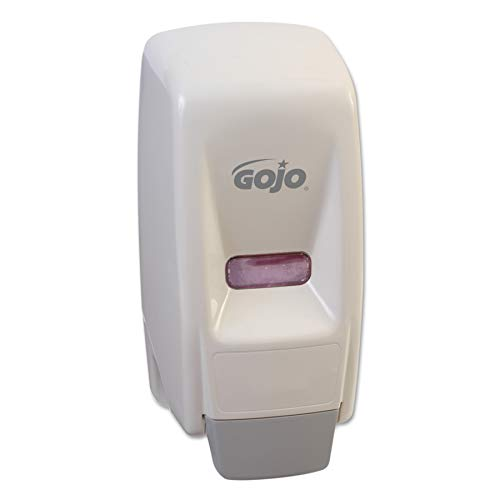 (GOJO 800 Series Bag-in-Box Push-Style Lotion/Shower Soap Dispenser, White, Dispenser for GOJO 800 Series Bag-in-Box 800 mL Soap Refills - 9034-12)