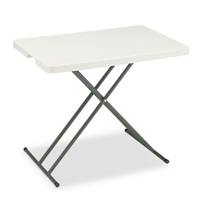IndestrucTables Too 1200 Series Resin Personal Folding Table, 30 x 20, Platinum, Sold as 1 Each by Generic