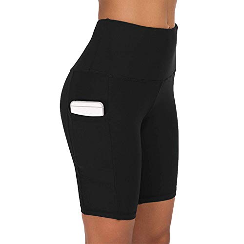 COTOP Yoga Shorts voor Dames, Zomer Hoge Taille Sport Shorts met Zakken voor Gym Workout, Fitness, Joggen, Hardlopen…