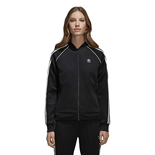 adidas Originals Women's Superstar Tracktop, Black, L -