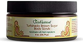 product image for Turbinado Brown Sugar Body Scrub | Best Scrub for All Skin Types | Perfect polished skin delivered by 14 of nature's best exfoliator and moisturizers (8 Oz.)