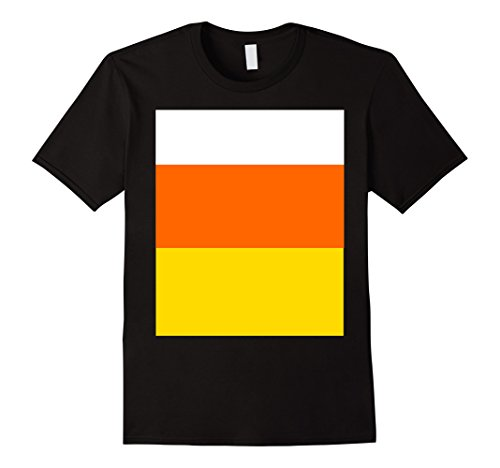 Mens Candy Corn Colored TShirt for Simple Halloween Costume Medium Black
