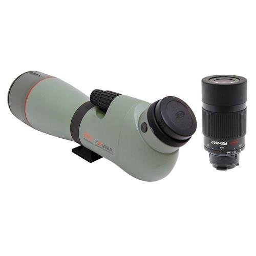 Kowa TSN-883 88mm/3.5'' Angled Spotting Scope, 16.4' Min Focusing Distance, Fluorite Crystal Lens, Waterproof & Fogproof TE-11WZ 25-60x Wide Angle Eyepiece by Kowa