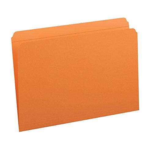 Smead File Folder, Reinforced Straight-Cut Tab, Legal Size, Orange, 100 per Box (17510)