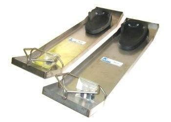 Kraft Tool CC162 28-Inch by 8-Inch Lightweight Stainless Steel Knee Boards-Pair
