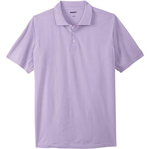 - KingSize Men's Big & Tall Longer-Length Pique Polo Shirt, Soft Purple Tall-L