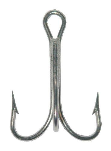 Mustad Classic 2 Extra Strong Treble Hook (Pack of 25), Nickel, (1/0 Treble Hook)
