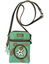 New Design Pu Leather - Chala Crossbody Cell Phone Purse-Women PU Leather Multicolor Handbag with Adjustable Strap (Aqua-SeaTurtle)