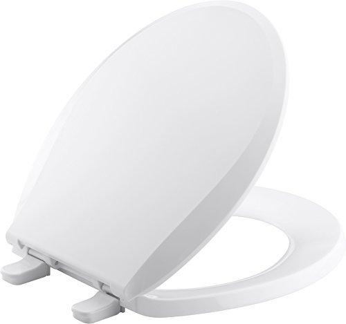 Kohler K-7316-0 Quick-Release Round-Front Toilet Seat White GRIP-TIGHT CACHET