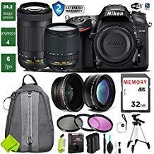 Nikon D7200 DSLR Camera 18-140mm VR Lens Bundle (18-140mm VR & Nikon 70-300mm VR, Extended Bundle 2)