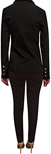 WOMENS DOUBLE BREASTED BLAZER LONG SLEEVES GOLD BUTTON BLAZER JACKETS FOR WOMEN BLAZERS FOR WORK CASUAL WORK OFFICE JACKETS