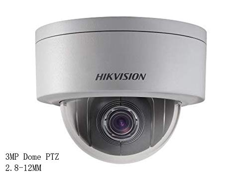 Hikvision 3MP PTZ Dome Camera DS-2DE3304W-DE 2.8~12mm 3MP Network Mini PTZ Dome Camera PoE 4X Zoom IP67 IK10 ONVIF H.265 English Version IP Camera