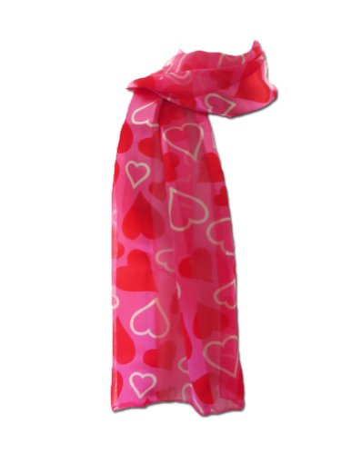 New Company Womens Valentines Day Hearts Scarf Ð Pink Ð One Size (Hearts Valentine Ladies Scarf)
