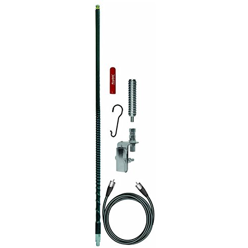 FireStik FS464A8A-B Four foot single mirror mount CB antenna kit (Black)