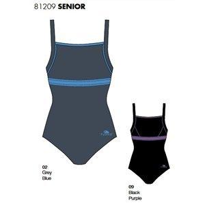 Turbo Olimpic (Sin Forro) - Bañador de natación y waterpolo para mujer, talla m, color negro: Amazon.es: Deportes y aire libre